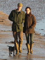 Duke & Duchess of Cambridge, Prince William, Kate Middleton, with puppy Lupo