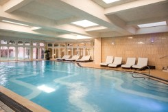 The pool in the spa at Walton Hall Hotel in Warwickshire
