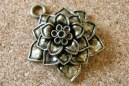 Fleur bronze, diamètre 37mm, épaisseur 13mm