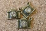 Caméra avec pierre, 17x14mm excluant l'anneau