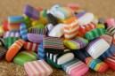 Mosaïques carrées, on dirait de jolis bonbons! 8x8mm