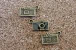 Mini caméra  noire, deux jolis côtés,  8x12mm sans l'anneau