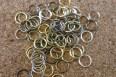 Anneaux mélangés (argent, bronze, cuivre et or), diamètre de 7-8mm
