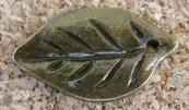 Feuille bronze, 22x14mm