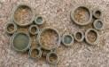 Chaîne de bulles bronze, 58x38mm