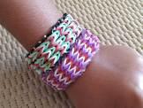 bracelet en élastique à 3 tresses