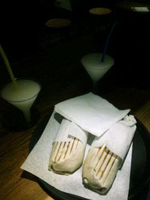 Burritos (con carne and sabroso)+Margueritas @Etnico, Athens