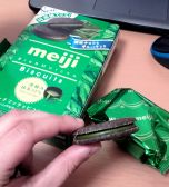 meiji maccha cookies - oh my god I'm addicted
