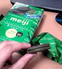 meiji maccha cookies - oh my god I'm addicted