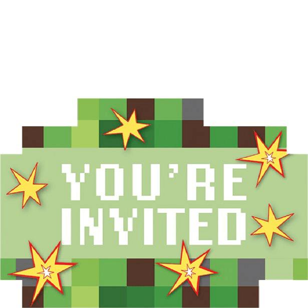 invitations anniversaire minecraft