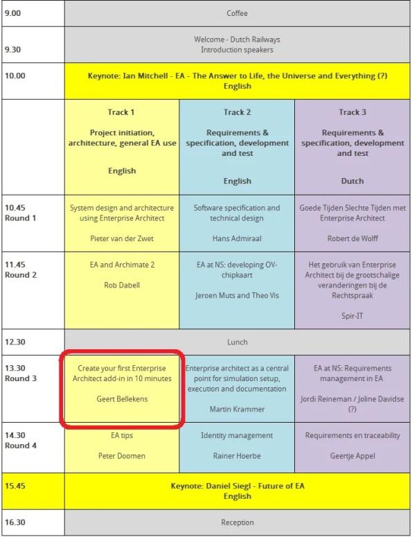 Agenda Utrecht