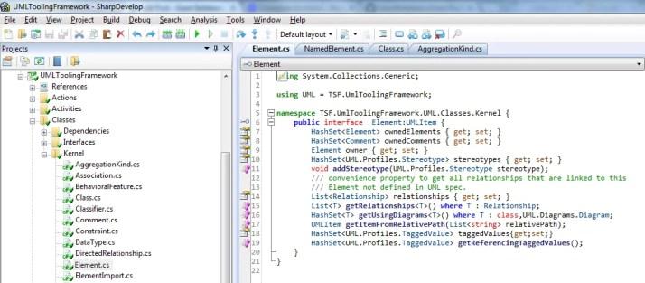 UML Tooling Framework Code