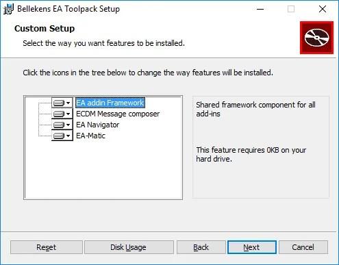 Bellekens EA Toolpack installer