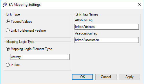 EA Mapping Settings
