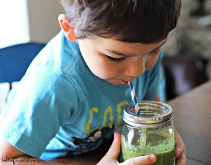 Kale, Apple, and Banana Smoothie - the perfect healthy breakfast or snack, and so easy to blend together! If you think you don't like green smoothies, this one will change your mind! It's so good!