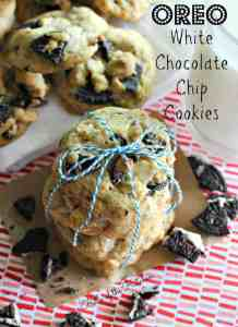 Belle of the Kitchen | Oreo White Chocolate Chip Cookies