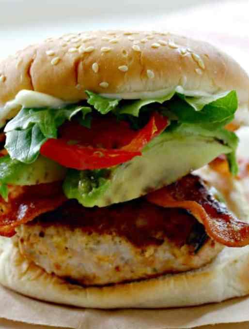 Bacon Ranch Turkey Burgers Recipe