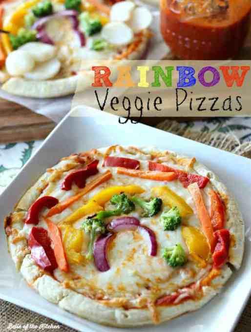 Rainbow Veggie Pizzas