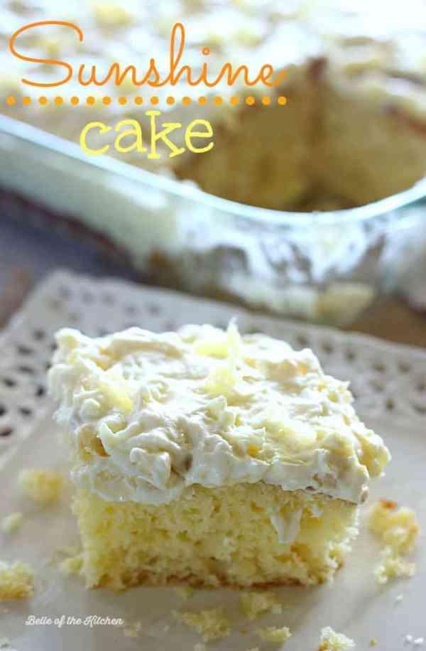Sunshine Cake | Belle of the Kitchen