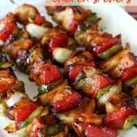 Chipotle Honey Chicken Skewers {Easy Summer Dinner}