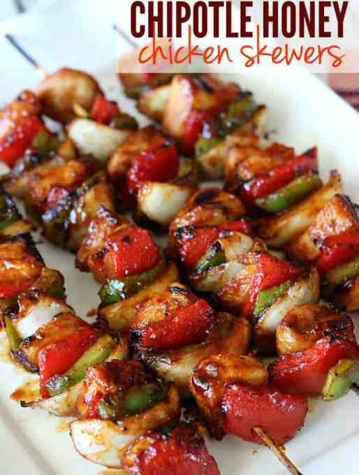 Chipotle Honey Chicken Skewers {Easy Summer Dinner}