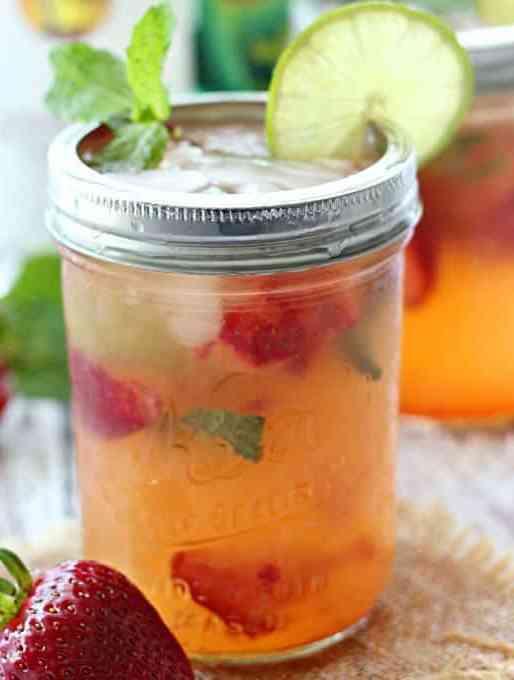 Strawberry Pineapple Mojitos
