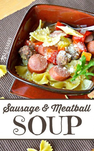 Sausage and Meatball Soup from Kenarry.com
