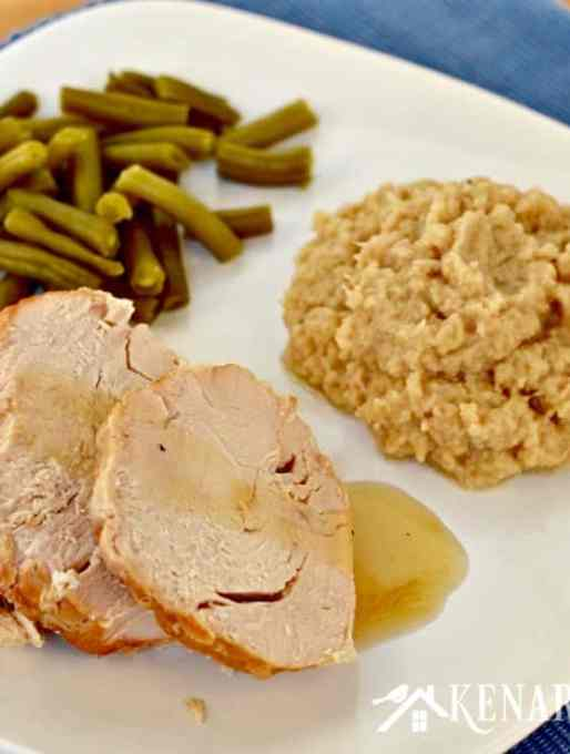 Slow Cooker Turkey With Garlic Mashed Cauliflower