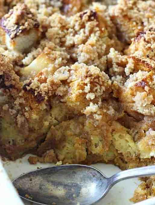 Caramel Pumpkin French Toast Casserole