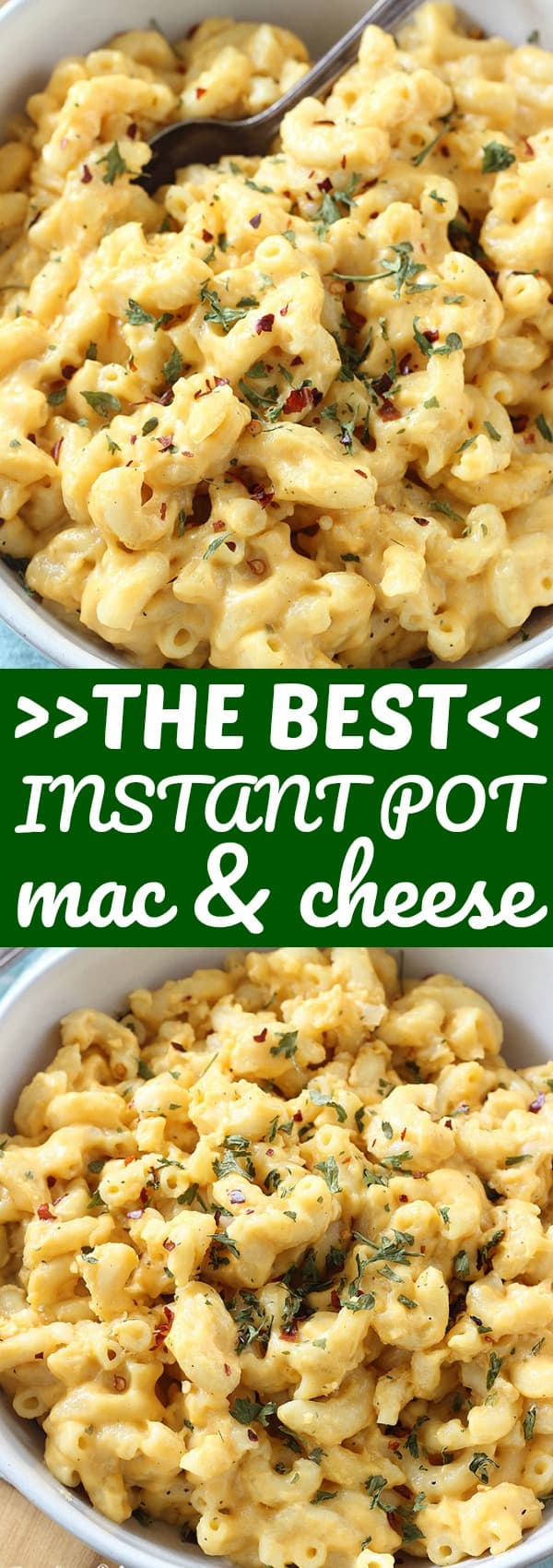 This Instant Pot Mac and Cheese goes from pot to table in under 30 minutes, and is so cheesy and delicious! Way better than the boxed stuff!