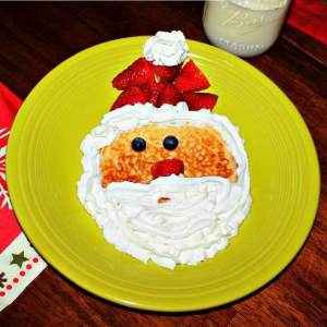 Cracker Barrel Santa Pancakes