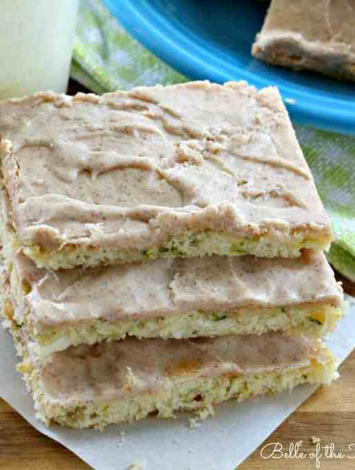 Cinnamon Frosted Zucchini Bars Recipe