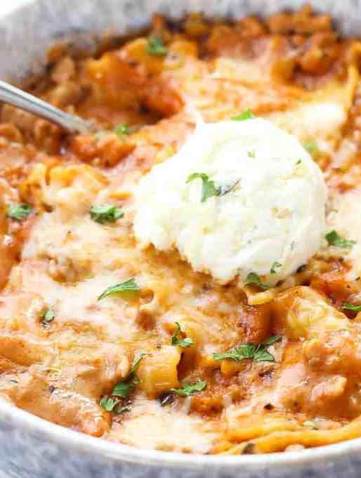 Instant Pot Lasagna Soup Recipe