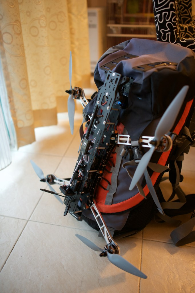 Backbone - QAV500 on backpack