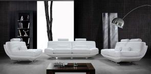 White Bonded Leather 0670-1