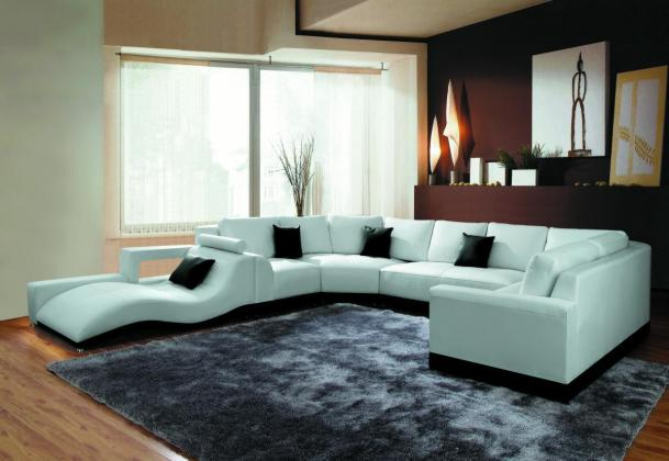 Bonded Leather Sectional Sofa-2264B