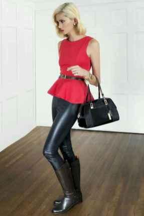 12 Cool Girls WaysTo Wear Leather Legging