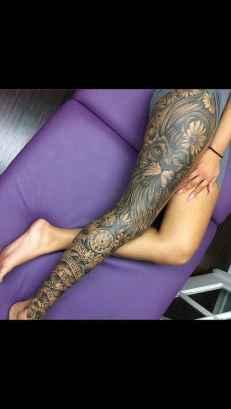 19 Most Popular Leg Tattoos Ideas for Women