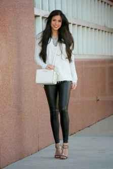 20 Cool Girls WaysTo Wear Leather Legging
