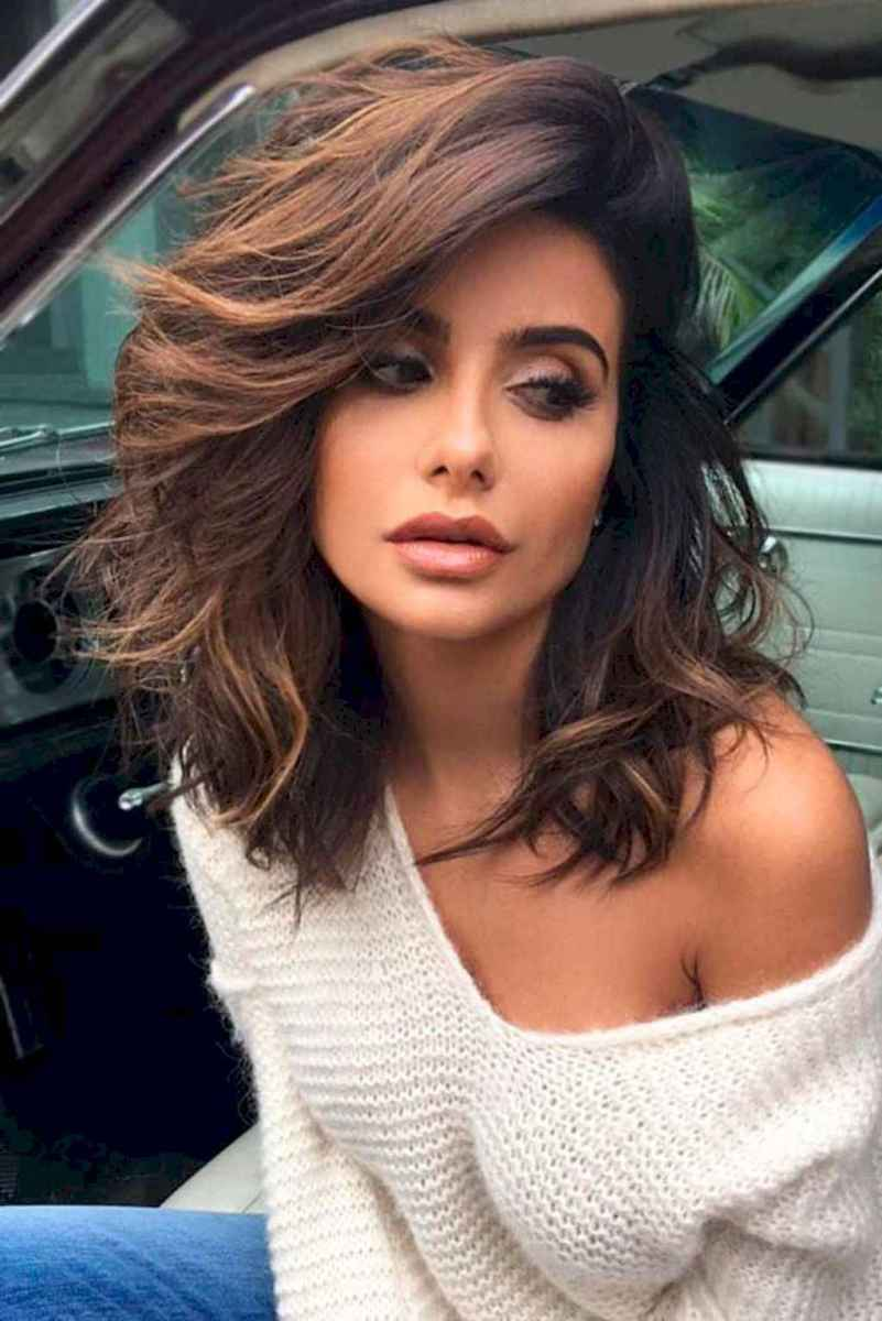24 Stylish Lob Hairstyle For Fall and Winter