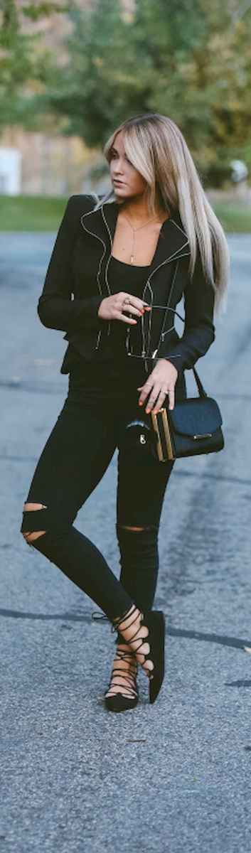 27 Chic All Black Outfit