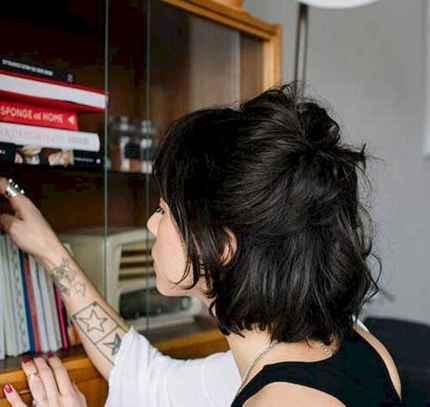 33 Messy Short Hair for Pretty Girls