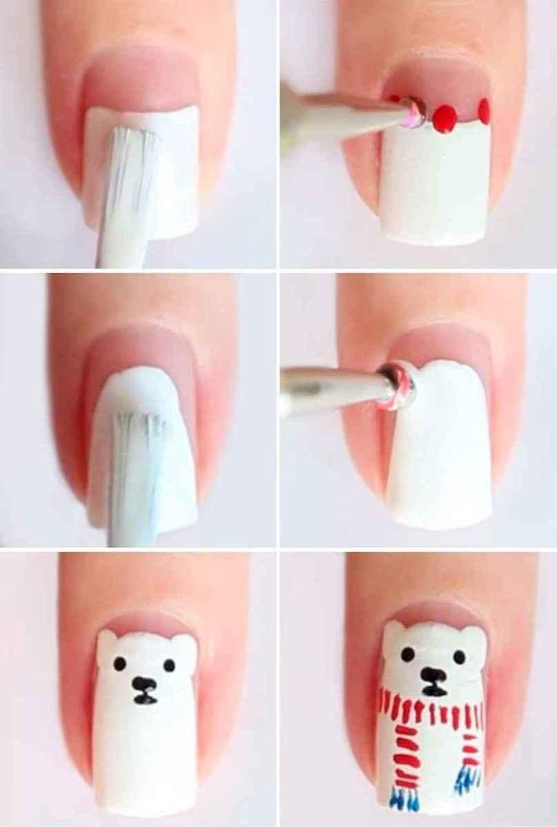 71 Easy Winter Nail Art Ideas