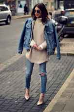 01 Simple and Cute Outfits Ideas with Double Denim