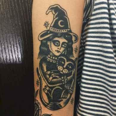 05 Beautiful Witch Tattoo Designs Ideas