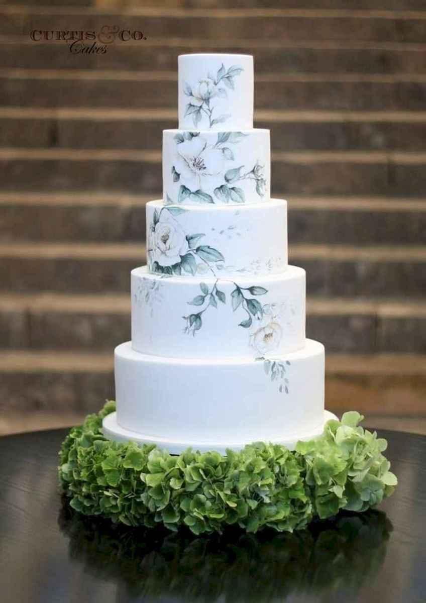 06 Green Wedding Cake Inspiration with Classy Design