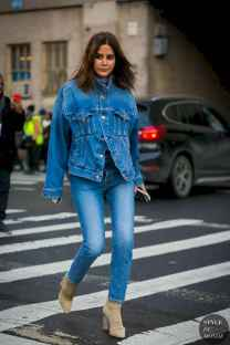 07 Simple and Cute Outfits Ideas with Double Denim