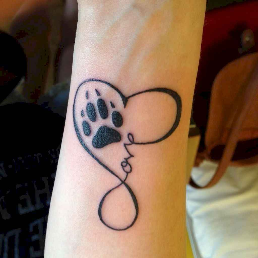 Paw Print Tattoos With Flowers: 18 Cute Paw Print Tattoo Designs Ideas You Must Love
