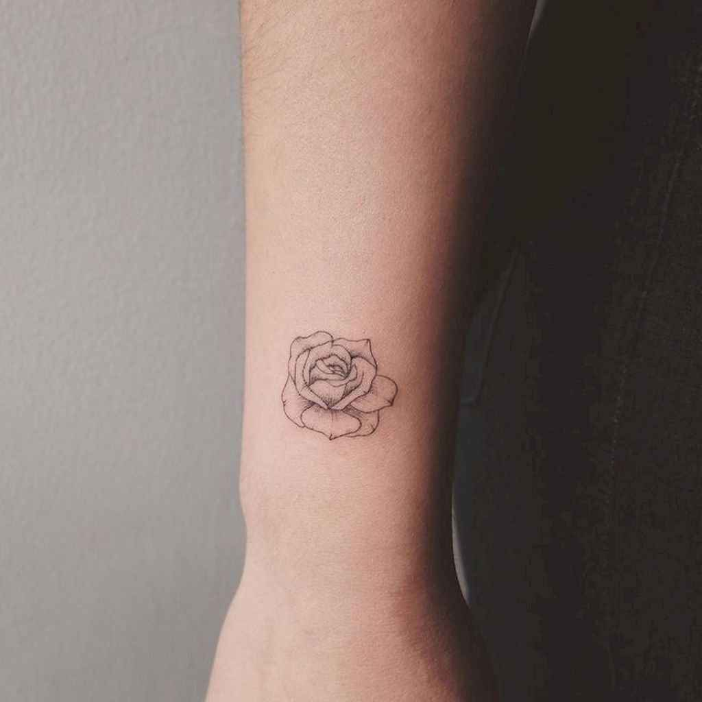 18 Traditional Rose Outline Tattoo Designs Ideas