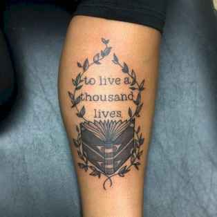 20 Awesome Book Tattoo Designs Ideas For Bookworms